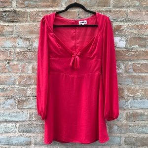 Red Skater Dress About Us Revolve Sweetheart Tie